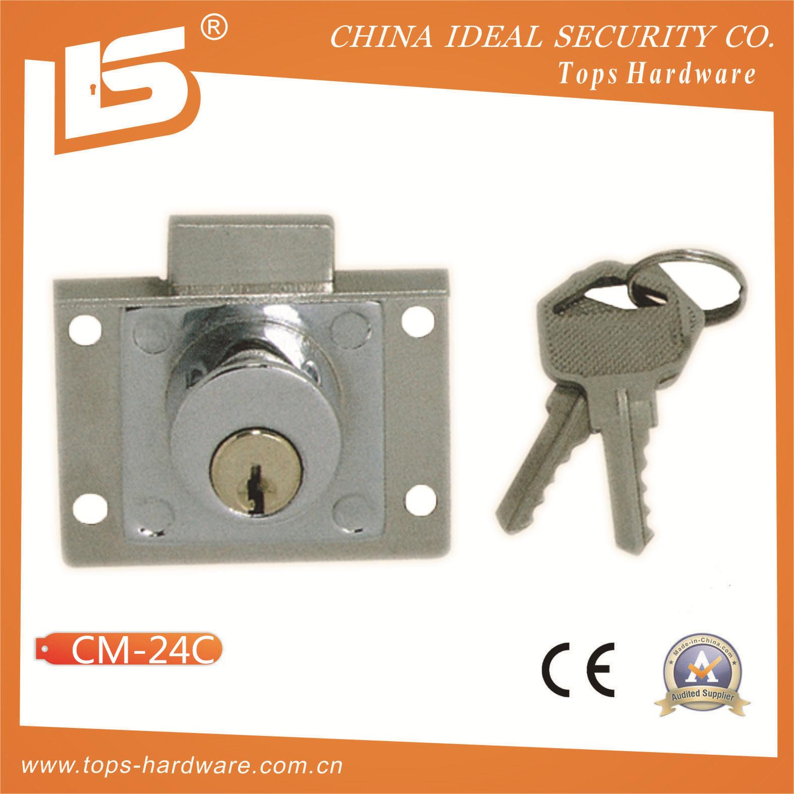 Zinc Furniture & Desk & Cabinet Drawer Lock (CM-24C)