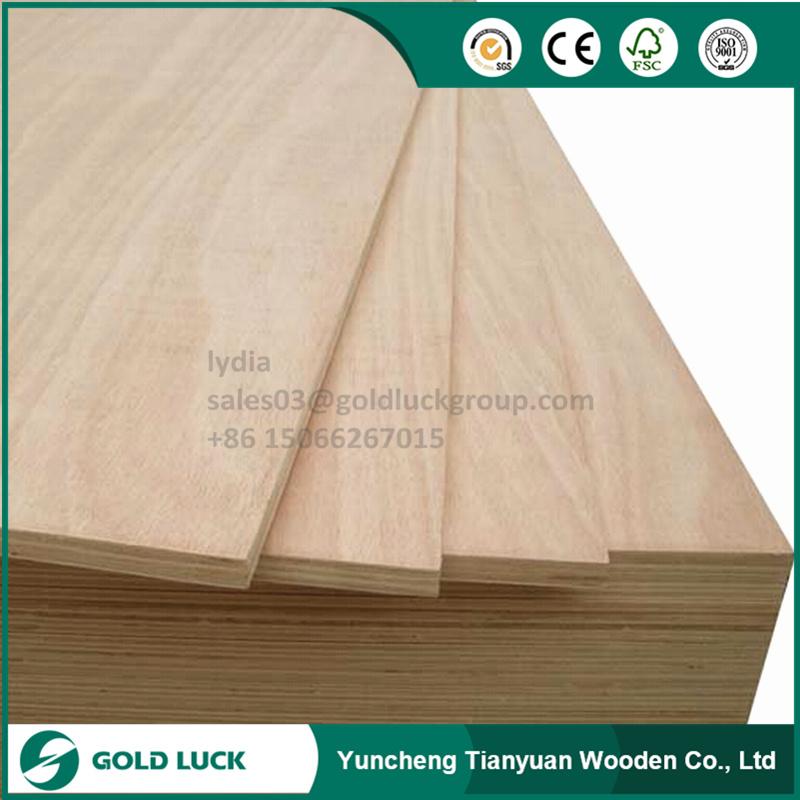 2mm - 25mm Okoume/Bintangor/Birch Furniture Frade Commercial Plywood
