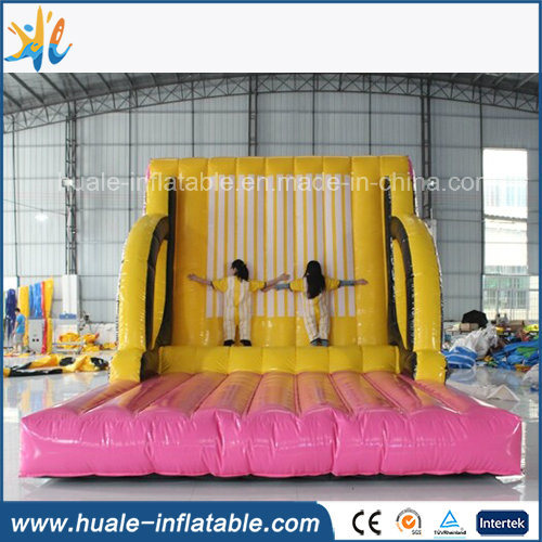 Inflatable Sticky Jumping Wall, Inflatable Magic Tape Wall with Jumping Suits