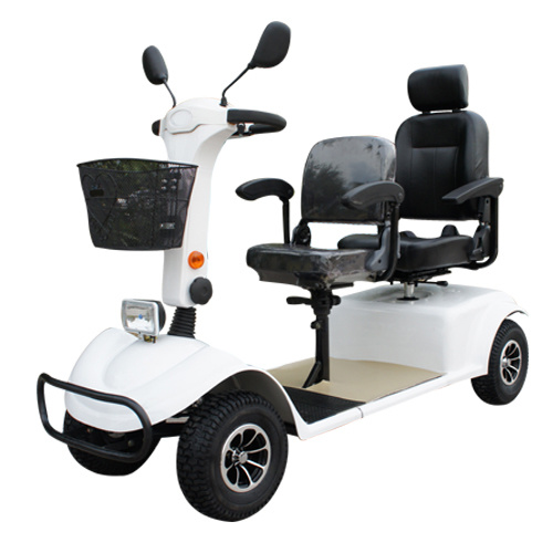 Four Wheel 800W Brush Scooter Motorcycle for Elderly