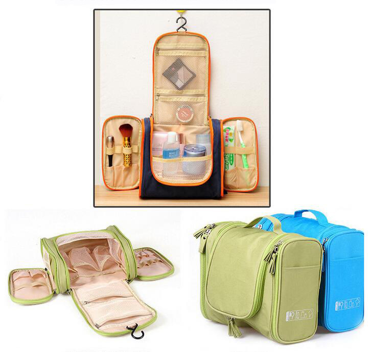 Portable Toiletry Cosmetic Bag Waterproof Makeup Make up Wash Organizer Zipper Storage Pouch Travel Kit Handbag Brand Design