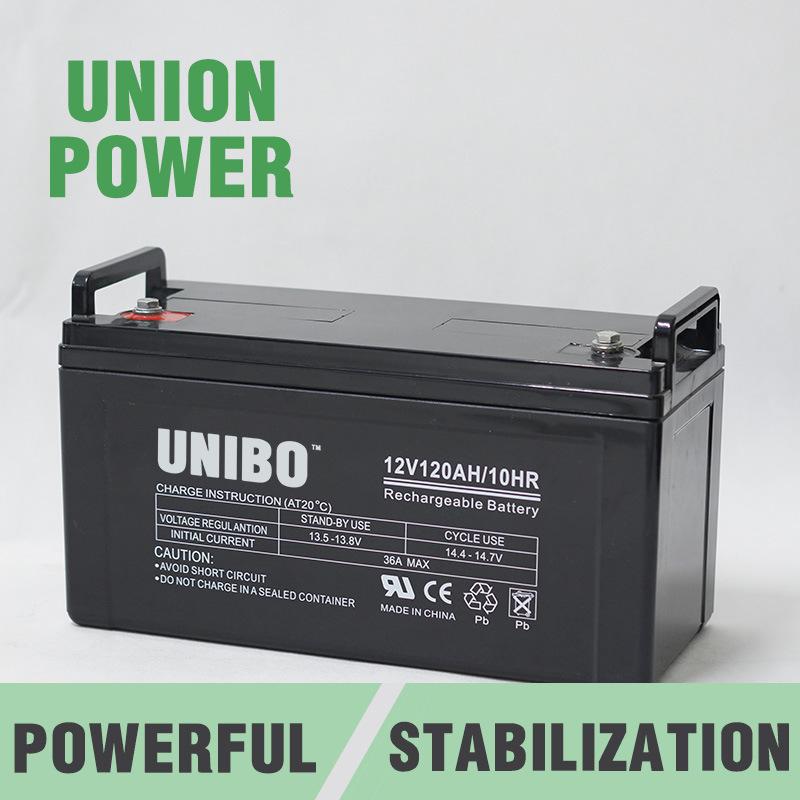 High Quality Solar Battery  12V120ah Solor System AGM Lead Acid Battery
