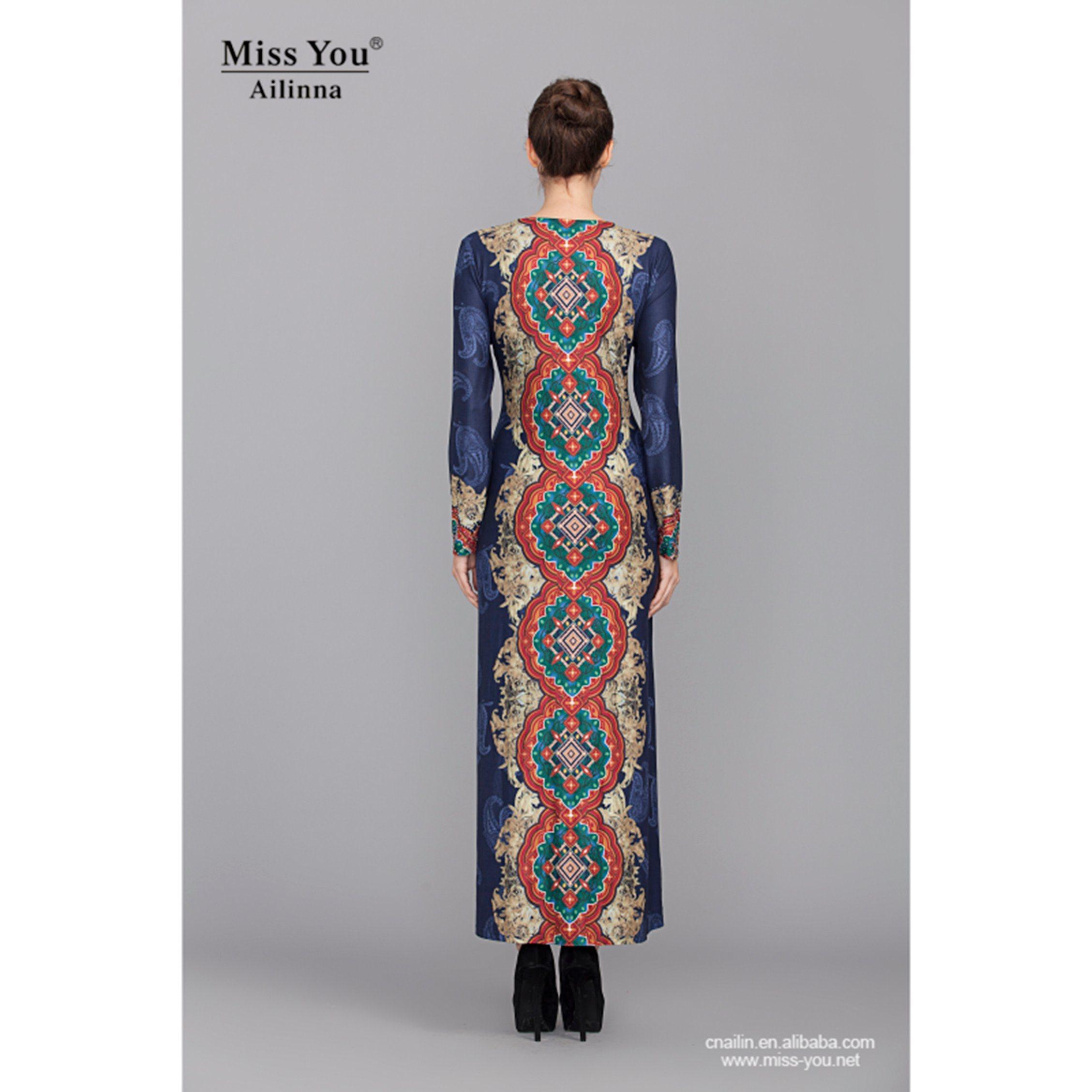 Miss You Ailinna 801968 Ladies Muslim Women Party Dress Abaya