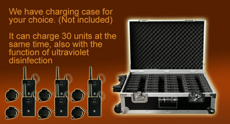 2.4G Digital Wireless Portable Transmitter Tour Guide System