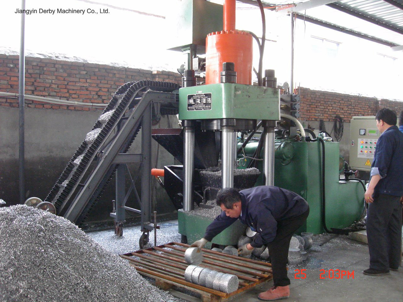 Briquetters Automatic Aluminum Iron Metal Scrap Hydraulic Briquette Recycling Machine-- (SBJ-500)