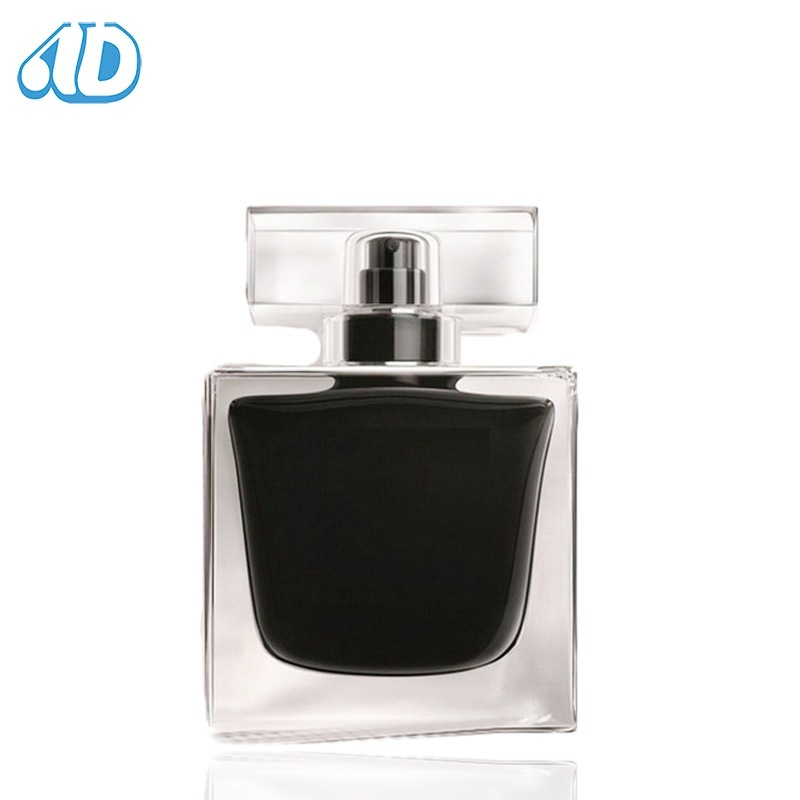 Ad-P228 Square Pet Cosmetic Glass Perfume Bottle 90ml