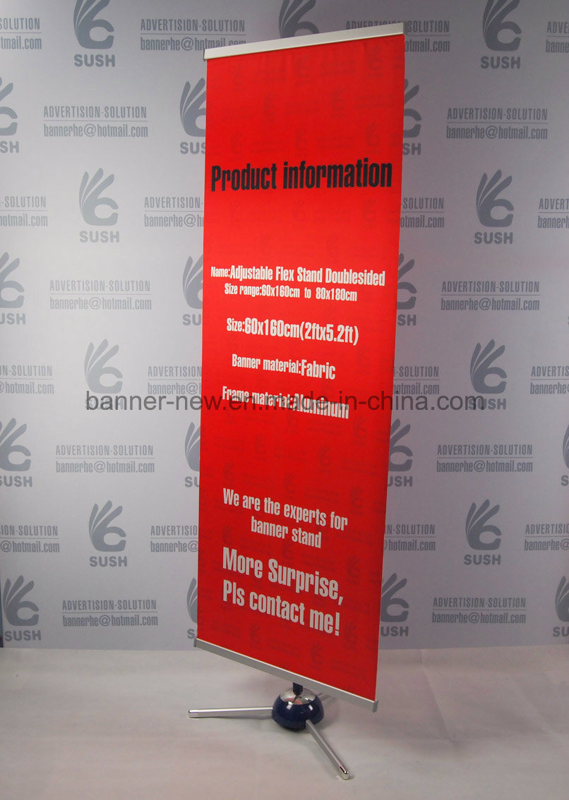 Easy Change Fabric Banner Stand, Hanging Display Banner (60X160)