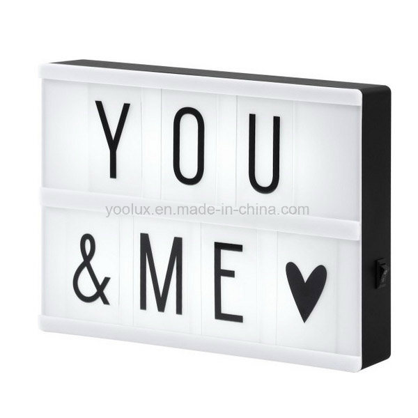 LED Cinematic Light Box DIY Letters Display Light Box