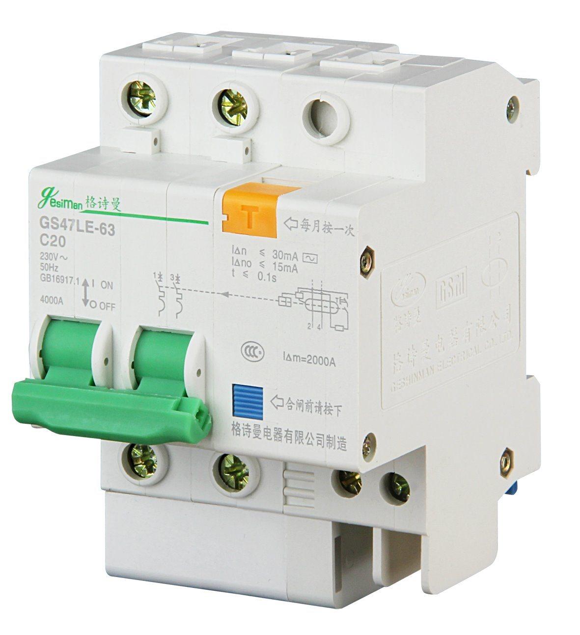 Miniature Circuit Breaker 2p Dz47le-63