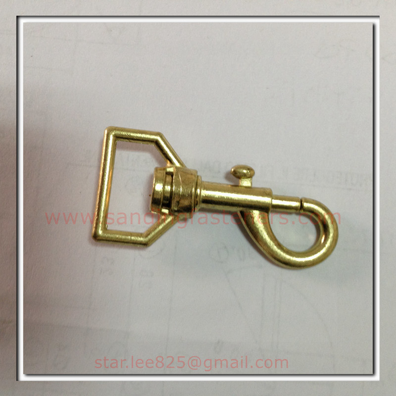 Brass Plated Zinc Alloy Snap Hooks for Bag