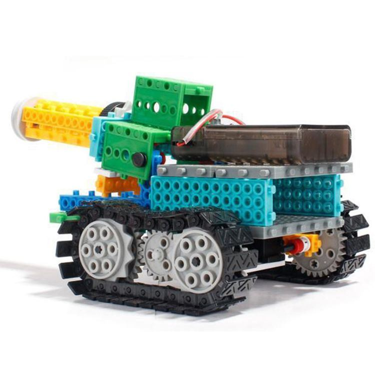 1488721-4 in 1 Tank Robot Block Kit Remote Control RC Blocks Set Education Creative Toy 237PCS - Color Random
