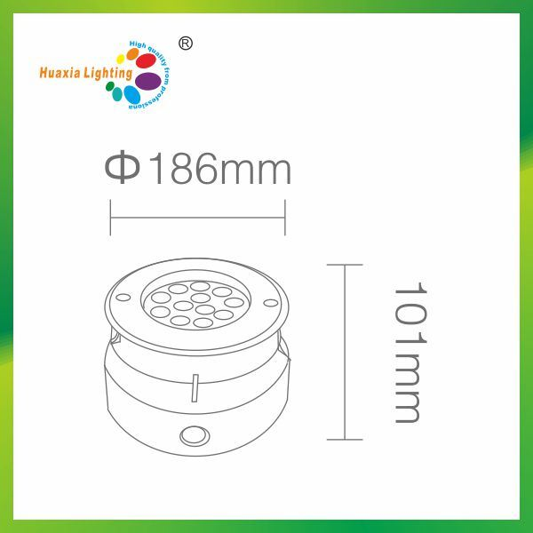 12W IP67/IP68 LED Inground Light, LED Underground Light