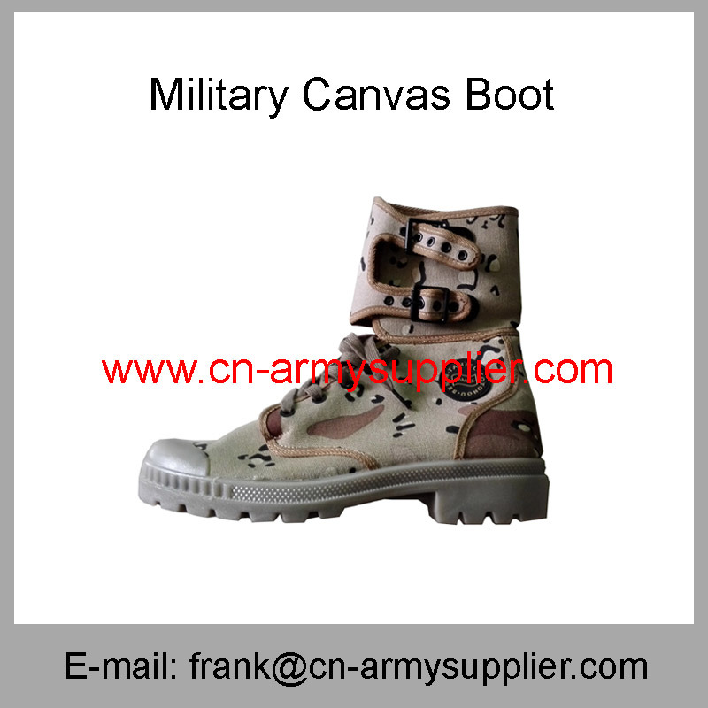 Army-Camouflage-Police-Military Canvas Boot