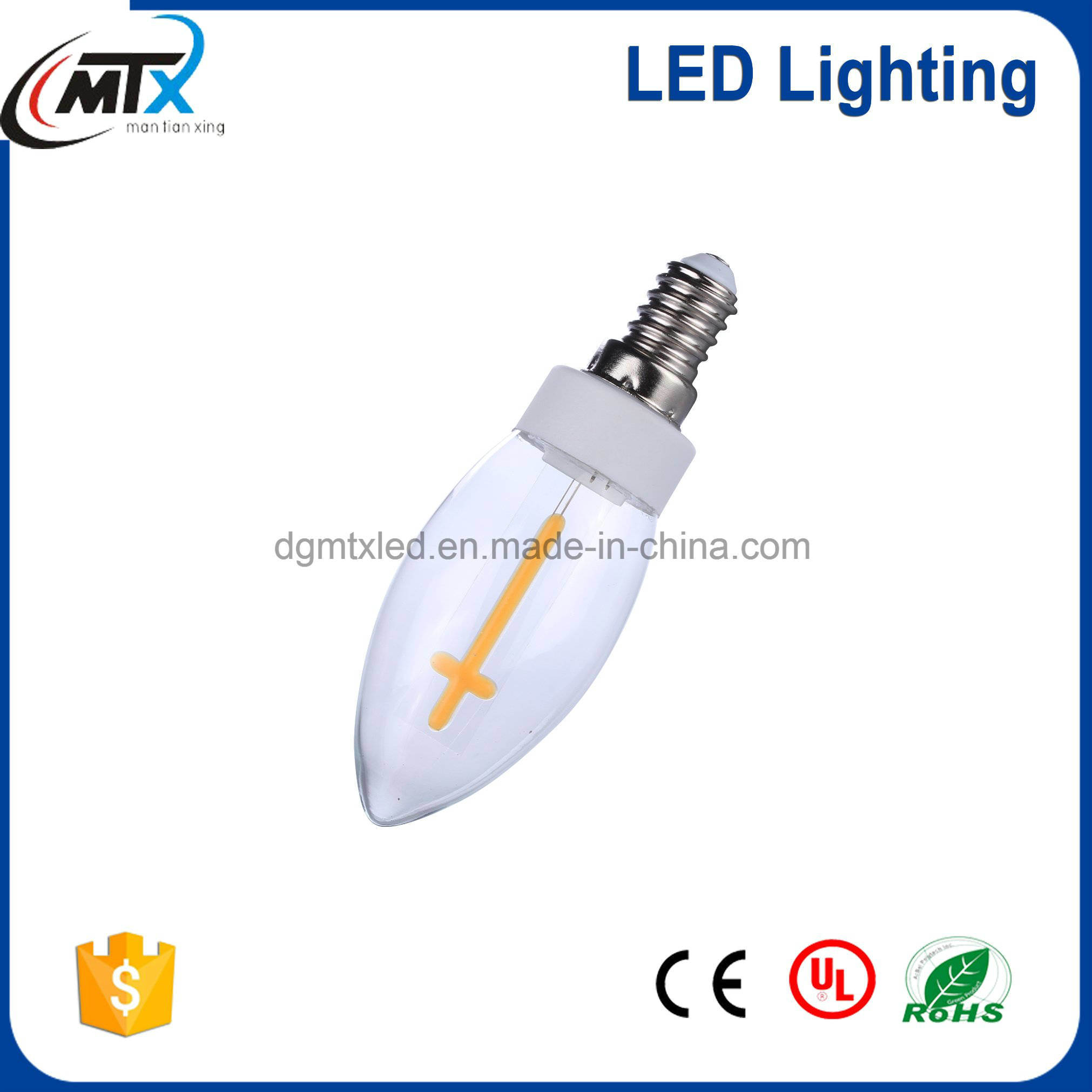LED Patent LED Lighting series candle light bulb 110-150Lm 4W