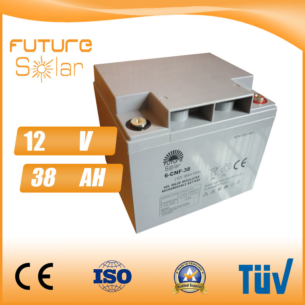 Futuresolar Lead Acid Battery 12V 38ah Solar Panel Rechargeable Battery Grey