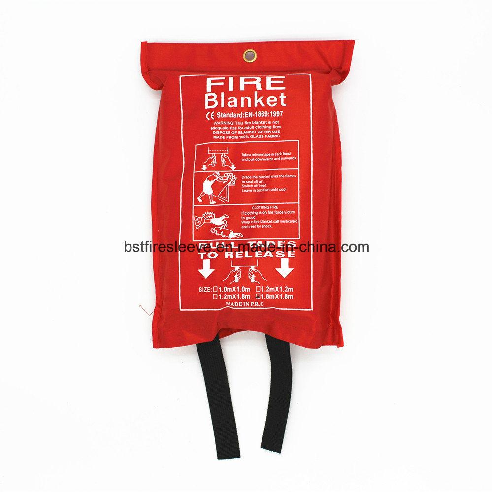 En1869 Approved Kitchen Family Industrial Fiberglass Safety Fire Blanket