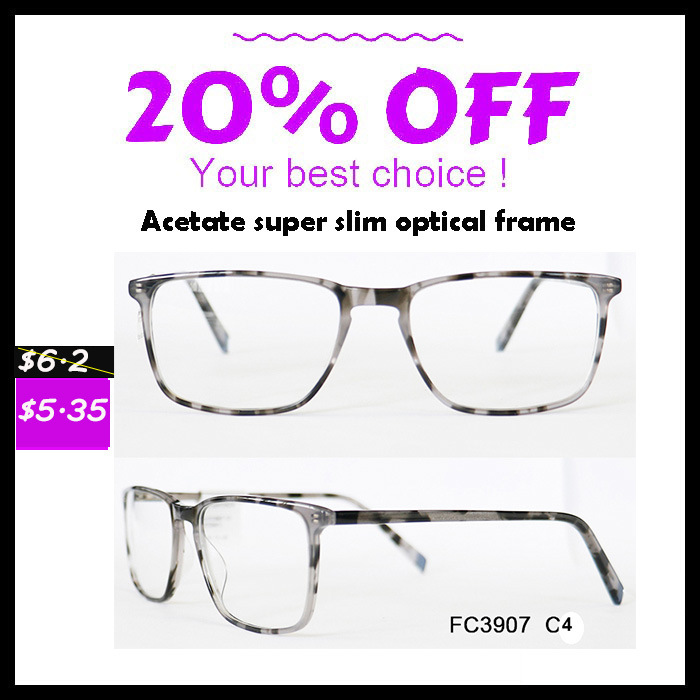 Any Color Available Super Slim Acetate Optical Frame