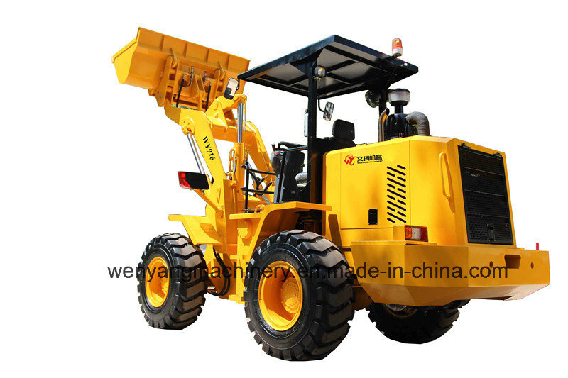 Small Type Wheel Loader 1.6ton with Awning with Weichai Engine