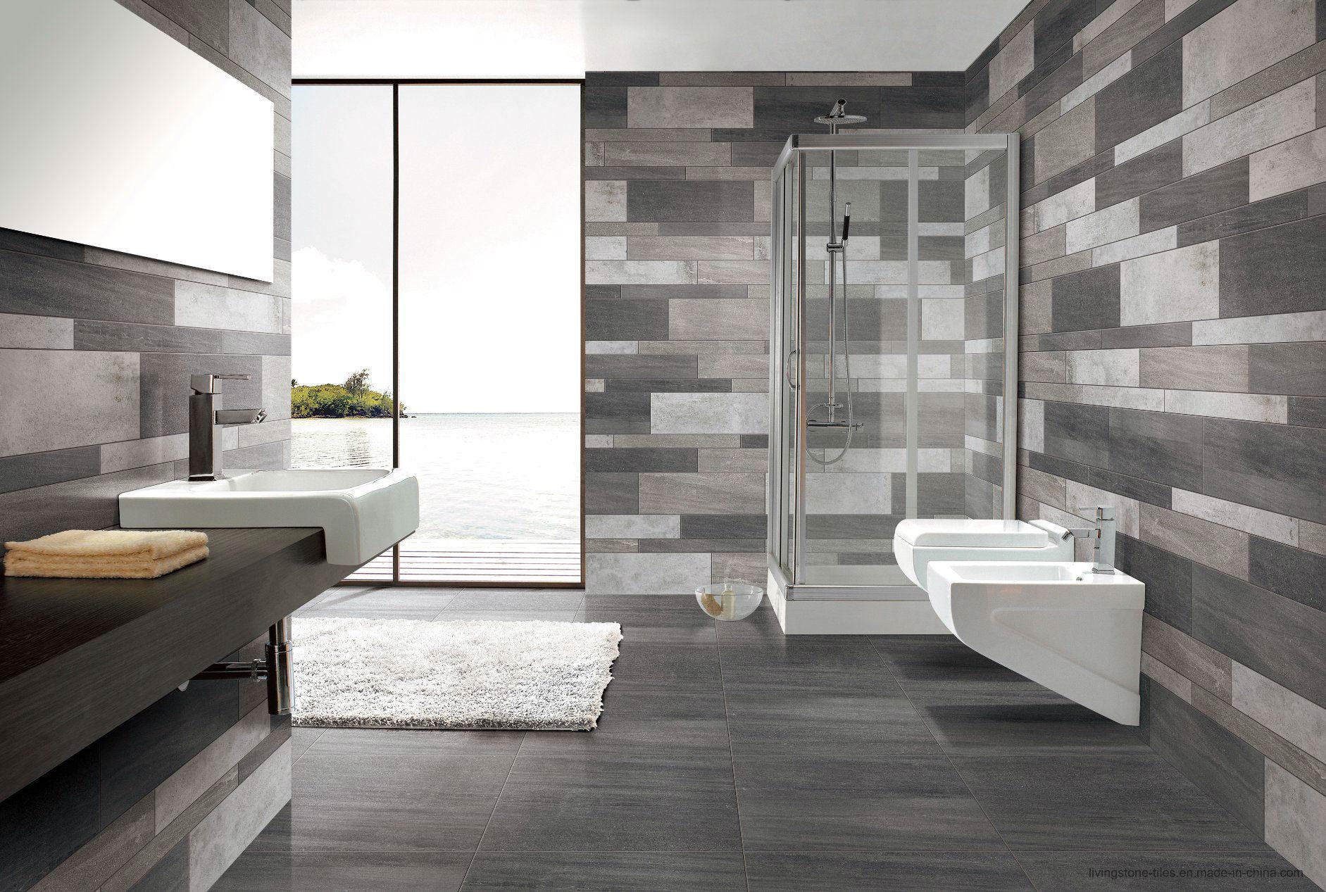 Foshan Factory New Inkjet Six Face Grey Porcelain Tile Lx6617W