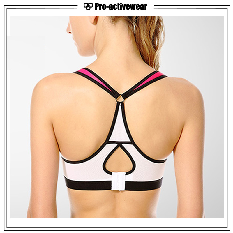 Wholesale Customized Dri Fit Sublimated Spandex Sports Bra