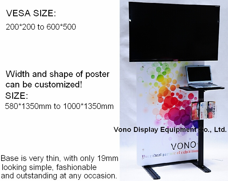 Exhibition TV Display Stand with Poster Holder