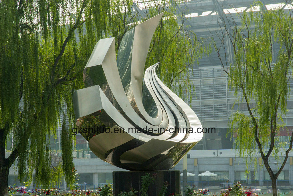Stainless Steel Abstract Sculpture Handicraft, Applicable Indoor and Outdoor Decoration