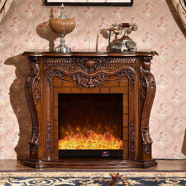 Wood Home Furniture Heater Electric Fireplace with Ce Certificate (330)