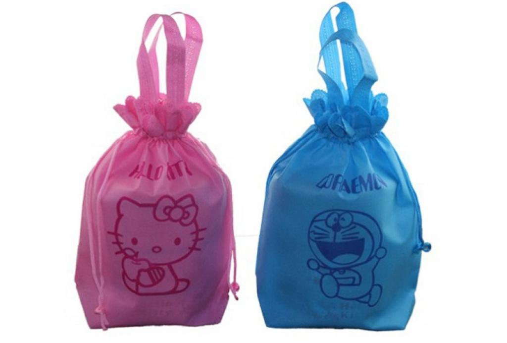 80g Non-Woven Cute Drawstring Bag