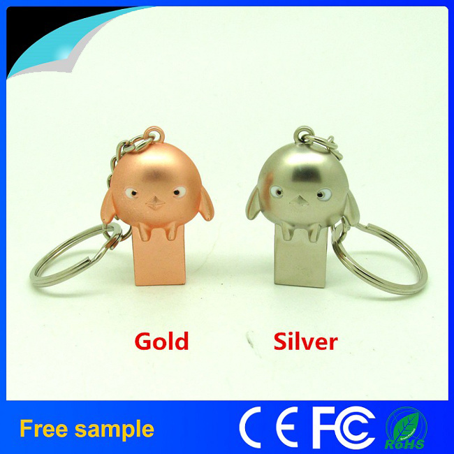 New Arrivals Lovely Chicken Metal USB Flash Memory