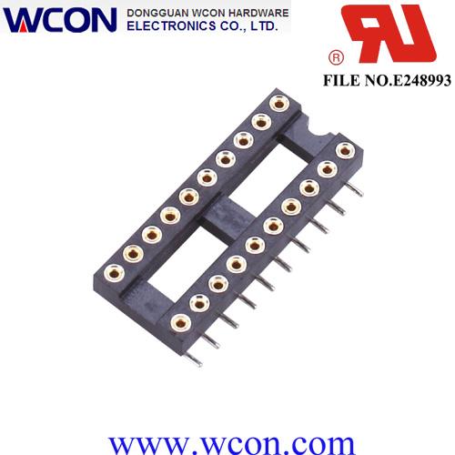 2.54mm H=3.0 15.24 Row Spacing Hole IC Socket
