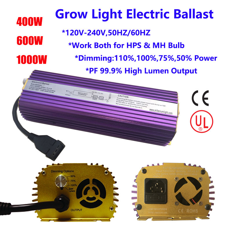 Grow Light Electric Ballast 600W Dimming 110-240V
