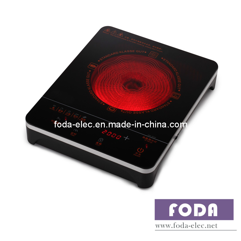 Cookware Table-Top Touch Type Single-Coil Infrared Cooker/Hilight/Hi-Light/Hob Burner/Not Induction Stove(GN-202T)
