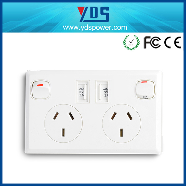 Smart Dual USB Charging Wall Socket Ce Certified Aus Socket