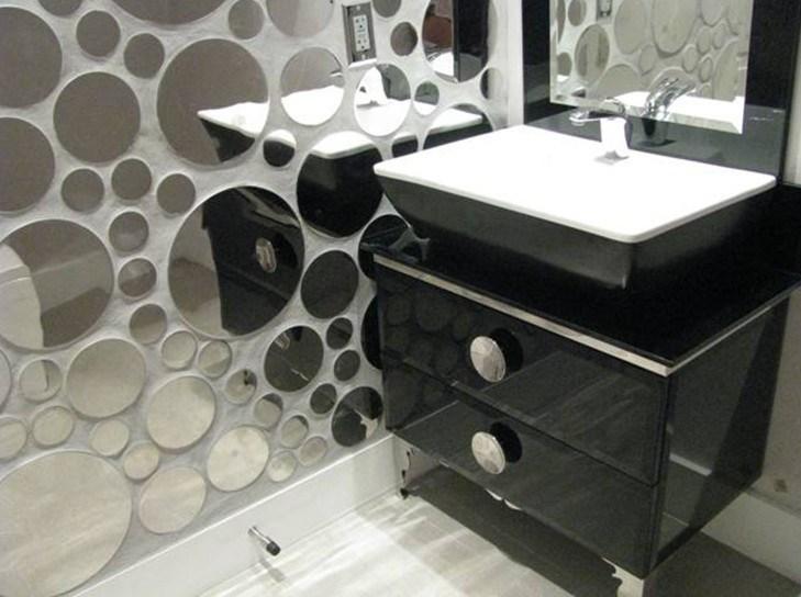 China Black PVC High Gloss Bathroom Vanity Cabinet GBP040