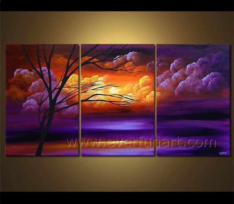 Hot Sale Framed Modern Landscape Oil Painting on Frame (LA3-150)