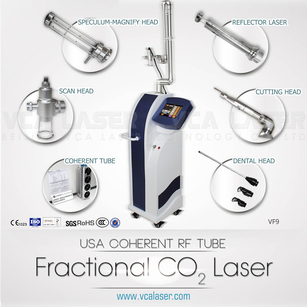 CE 10600nm RF Drive Metal Tube CO2 Fractional Laser Equipment