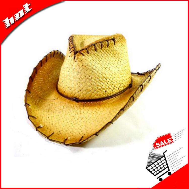 Cowboy Hat Straw Hat Paper Hat Printed Paper Straw Hat