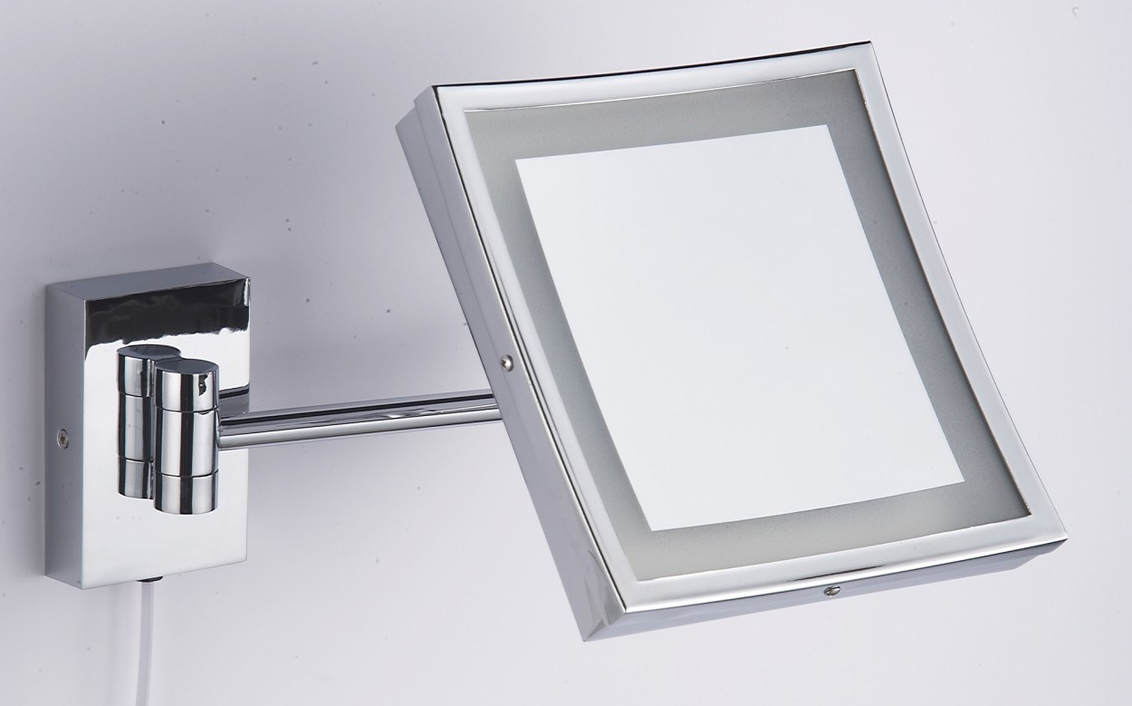 Wall-Mounted Lighted Cosmetic Mirror