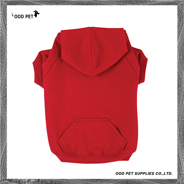 Fleece Plain Dog Hoodie Red Sph6001-3