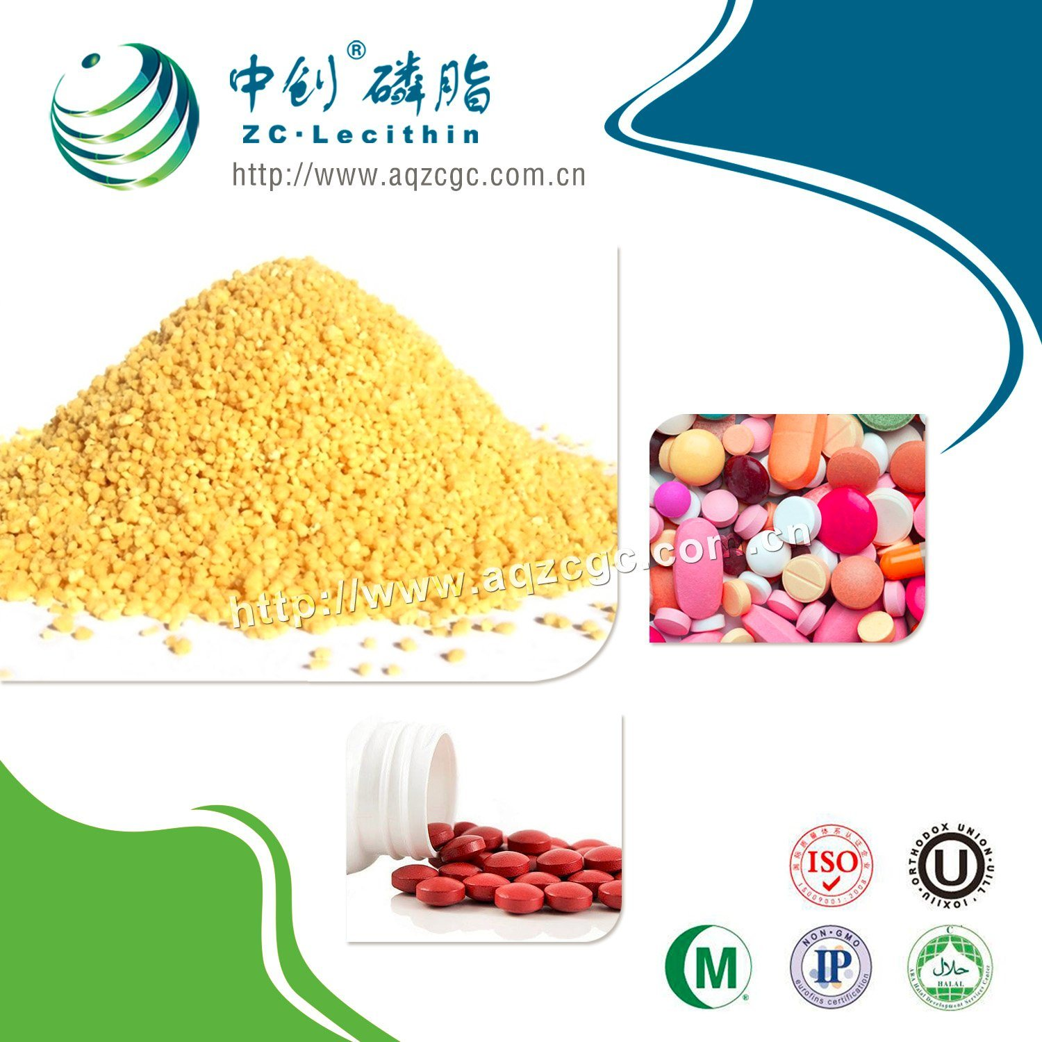 Soy Lecithin Manufacturers/Factory -Pharmaceutical Grade Soy Lecithin (Granule)