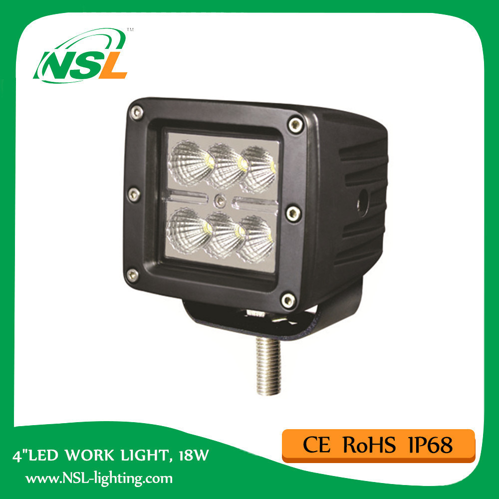 Cube LED Work Light 18W 3inch E-MARK R10 R23 R112