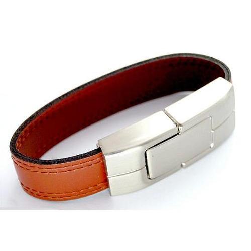 metal bracelet usb stick leather bracelet usb drive