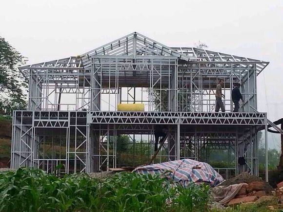 Cheap or Luxury Light Steel Structure Prefabricated Villa