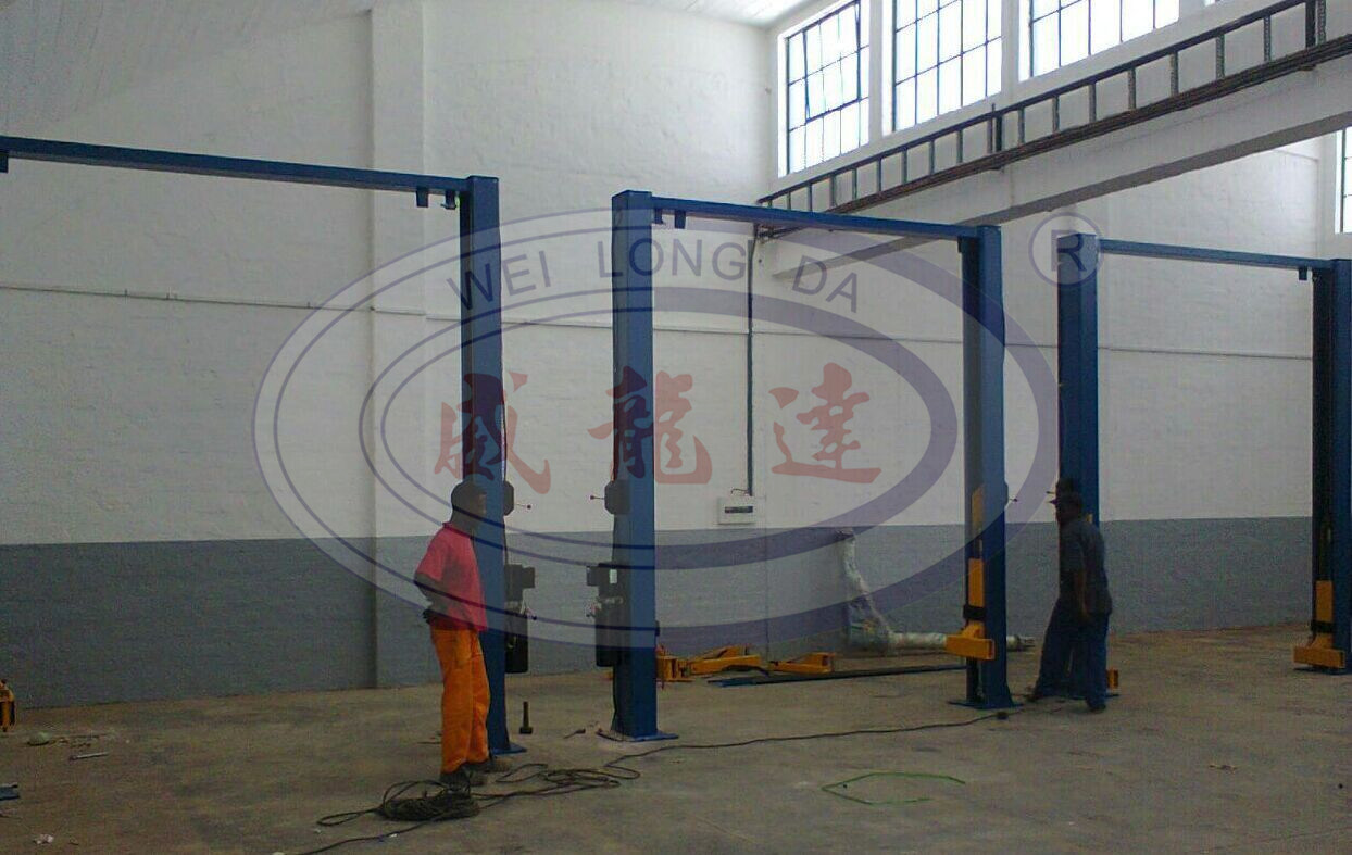 Wld-235m 2 Post Lift with Safety Beam