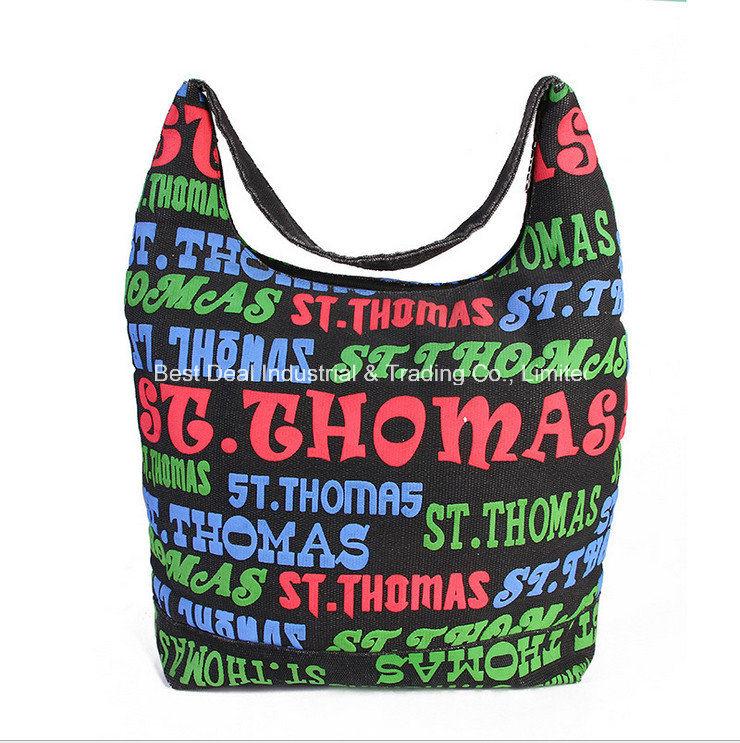 Foreign Trade Handbags Fashion Letter Canvas Bag Multi - Functional Shoulder Bag Large Capacity Mummy Bag