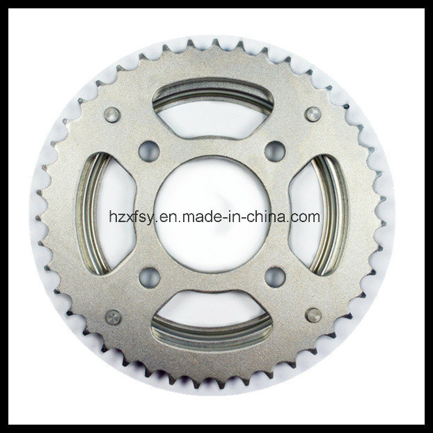 1045/Q235 Steel Rear and Front Motorcycle Sprocket Kit for Honda