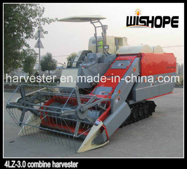 Double Thresher Cylinder Horizontal Axis Flow Rice Harvester