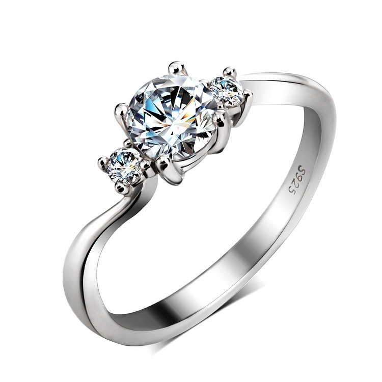 2014087 Fashion Ring for Wedding Gift S925 Silver Mixture Jewelry China Zircon and CZ Diamond