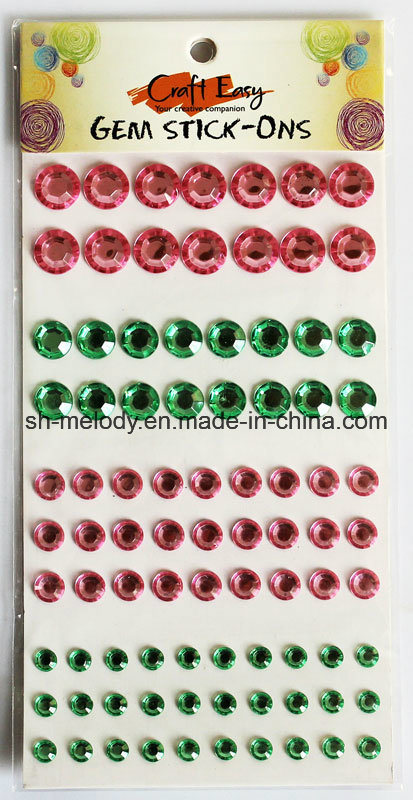 Round Gem Stick-Ons/Mobile Phone Sticker/Rhinestone Sticker