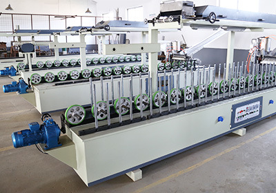 Wood Profile Wrapping PVC and Veneer Roller Press Machine